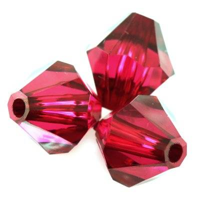 plastic bicone beads burgundy 14 mm