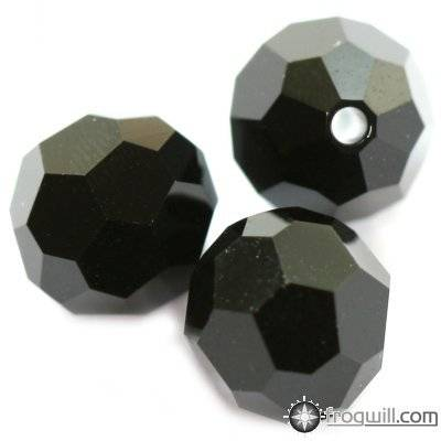 Swarovski round beads jet 6 mm