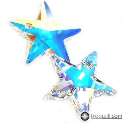 Swarovski star pendants crystal ab 20 mm