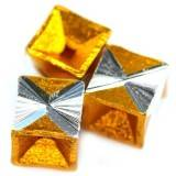cubes aluminium beads gold 8 mm