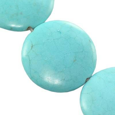 monety turkus 25 mm kamień jubilerski