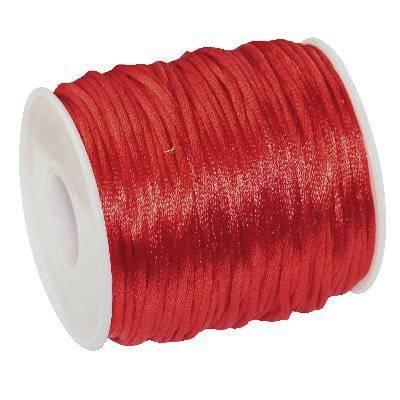 corde en satin rouge 2 mm
