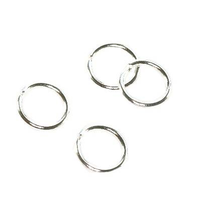 jump ring 6 mm silver color jewellery findings