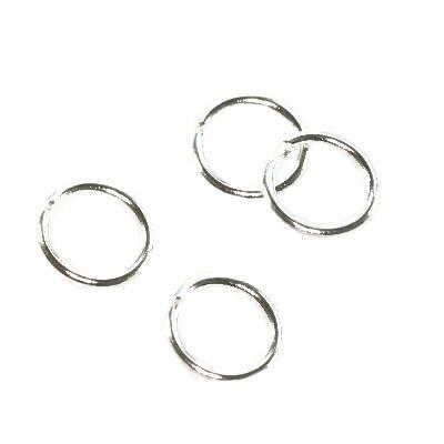 ogniwka otwarte 6 mm kolor srebrny półfabrykaty do wyrobu biżuterii