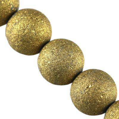 Perles d'or de Sandy 12 mm