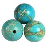 imperial jasper round azure 10 mm pietra naturale colorata