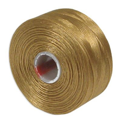 nici S-LON D Tex 45 0.11 mm gold - nić do beadingu