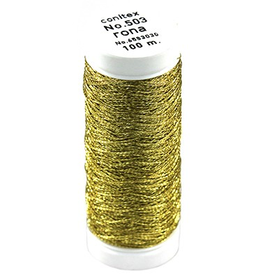 Rona™ Embroidery thread cold gold / metallised thread