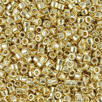 Miyuki Delica Beads 24kt gold plated 1.6 x 1.3 mm DB-31