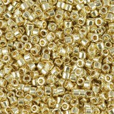 Perles Miyuki Delica 24kt gold plated 1.6 x 1.3 mm DB-31