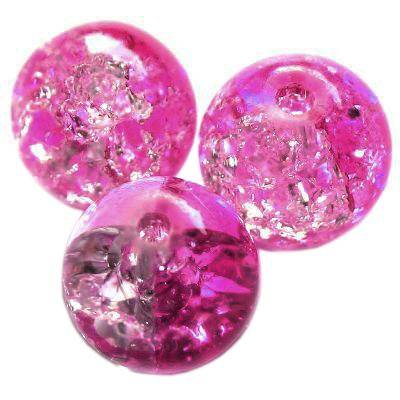 perles crépitement rose 10 mm