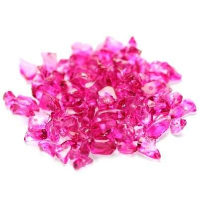 szkło kamyczki różowe / koraliki szklane