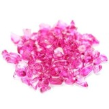 glass beads chips pink