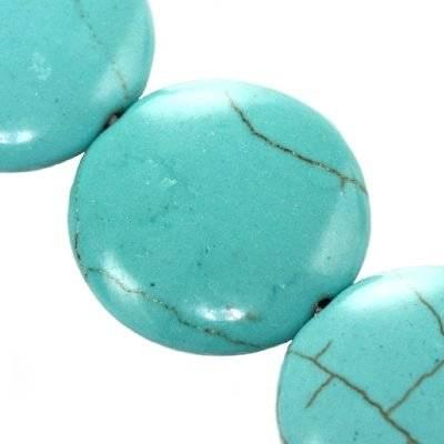 monety turkus 20 mm kamień jubilerski