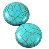 pièces de monnaie turquoise 20 mm