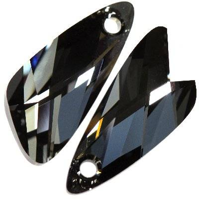 Swarovski wing pendants crystal silver night 23 mm