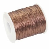 satin cord brown 2 mm