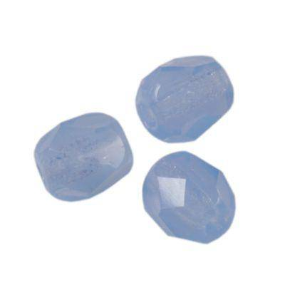 round beads milky light blue 4 mm