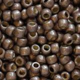Toho beads round permafinish - matte galvanized mau 2.2 mm TR-11-PF556F
