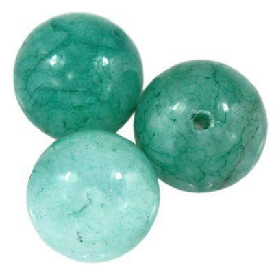 jadeit lazurowy 8 mm kamień naturalny barwiony