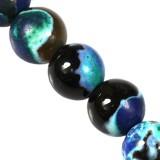agat smocze oko niebieski 6 mm kamień naturalny barwiony