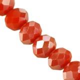 CrystaLine rondelle πορτοκαλί ΑΒ χάντρες 3 χ 4 mm / κρύσταλλο / crystal beads