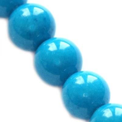 jade mountain beads blue 8 mm / semi-precious stone dyed