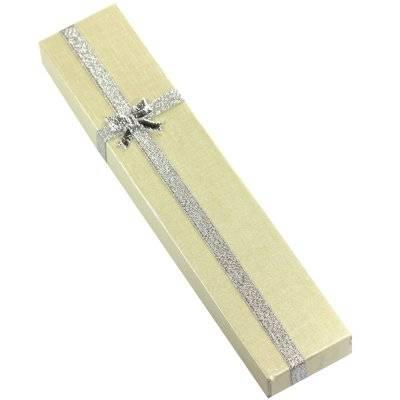 pudełeczko na naszyjnik kremowe 4 x 21 x 2 cm