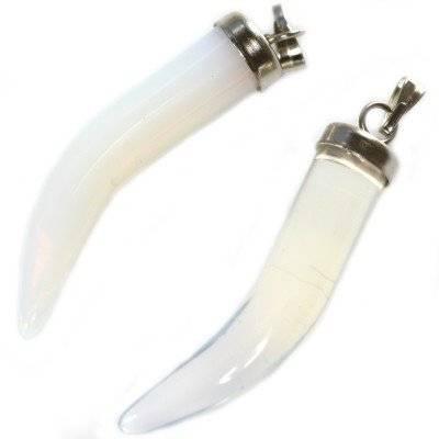 zawieszki zęby biały opal 30 mm kamień jubilerski