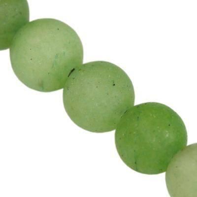 jadeit matowy pastelowy zielony 6 mm kamień naturalny barwiony