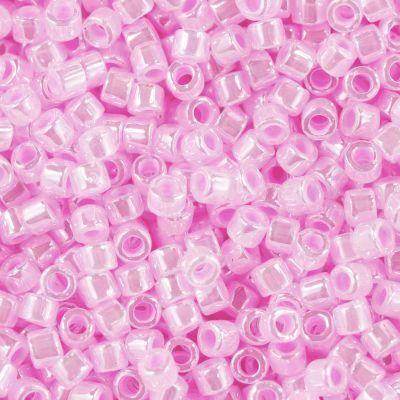 Miyuki perler Delica ceylon cotton candy pink 1.6 x 1.3 mm DB-245