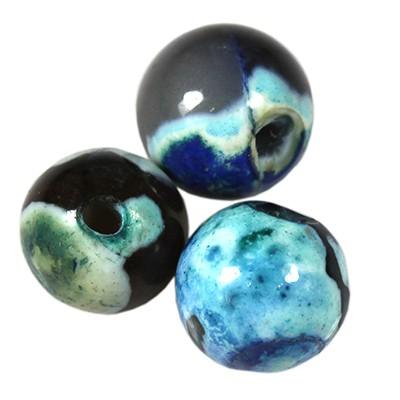 agat smocze oko niebieski 8 mm kamień naturalny barwiony