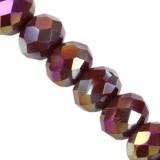 Crystaline rondelle améthyste foncé AB 3 x 4 mm / perles de cristal