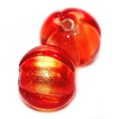 lampwork barili rosso 10 mm