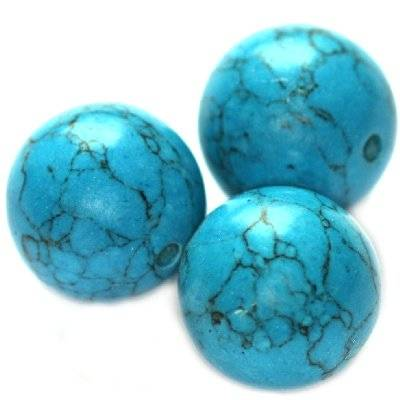 boules turquoise 14 mm