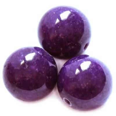 jadeit górski fioletowy 8 mm kamień naturalny barwiony