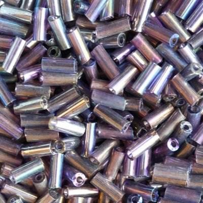 perles de verre Tubes mélange violet 4,5 mm