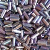glass beads tubes purple mix 4.5 mm