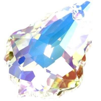 Swarovski baroque pendants crystal ab 22 x 15 mm