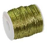 corde en satin olive 2 mm