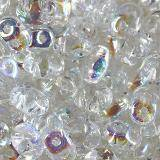 Matubo SuperDuo transparent crystal AB 2.5 x 5 mm
