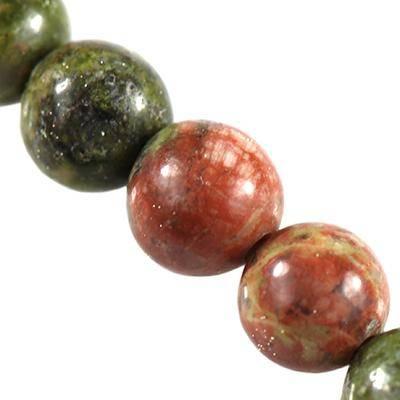 unakite beads 4 mm / semi-precious stone