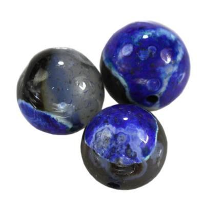 agat smocze oko niebieski kule 10 mm kamień naturalny barwiony