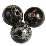 imperial jasper round black 8 mm πέτρα χρωματισμένη φυσικά