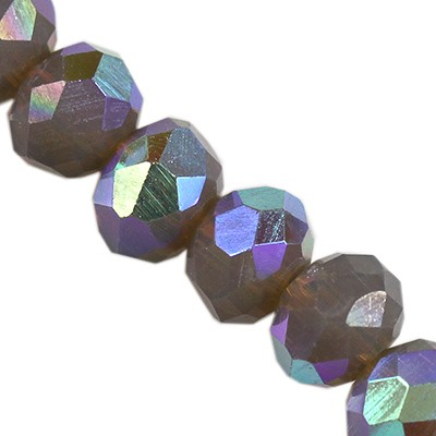 CrystaLine rondelle γραφίτη ΑΒ 3 χ 4 mm χάντρες / κρύσταλλο / crystal beads