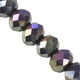 graphite cristallin de rondelle AB 3 x 4 mm / perles de cristal