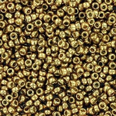 Miyuki round Perlen duracoat galvanized champagne 15/0 #15-4204
