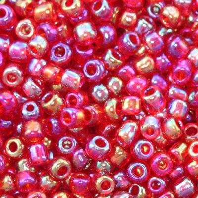 glass seed beads red mix 2 mm