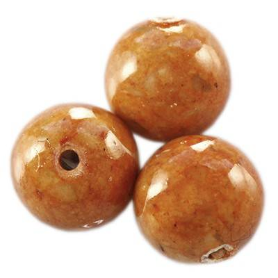 marble beads dyed brown 8 mm / natural stone dyed