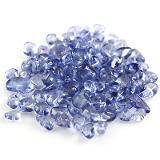 szkło kamyczki niebieskie / koraliki szklane